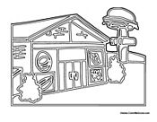 Community Coloring Pages Car Play Mats, Community Building, Burgers, Hamburger, Coloring Pages, Fries, Restaurant, Templates, Hamburgers