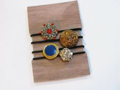 Pretty Hair Ties made with buttons!  Great Holiday gift idea!