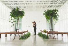 open, organic and modern ceremony #ceremony #wedding #modern