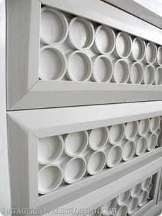 pvc pipe dresser. really great idea