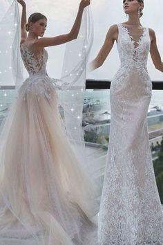 Bateau Wedding Dress, Detachable Wedding Dress, 2 Piece Wedding Dress, Sheath Wedding Gown, Wedding Skirt, Country Wedding Dresses, Sexy Wedding Dresses, Bridal Dresses, Tulle Lace