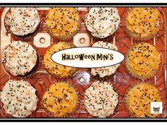 Halloween mini cupcakes! Visit Omg! Cupcakes at www.facebook.com/OmgCupcakesGP Holiday Cupcakes, Mini Cupcakes, Bite Size, Halloween Themes, Sugar, Cookies, Facebook, Desserts, Food