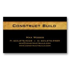 50% OFF BUSINESS CARDS!!  Hurry sale ends 8pm PST!!  Use code RUSHBIZCARDS :: Construction Contractor Business Card Wood Grain