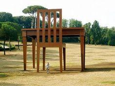 Giants Table and Chair, Sculpture Park, Denmark