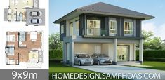 House design plans with 3 bedrooms.House description:Ground Level: Two car parking, Living room, Dining room, Kitchen, reservation Under Stairs, Home Design Plans, How To Level Ground, Nature Wallpaper, Pallet Furniture, Car Parking, Family Room, House Plans, Dining Room
