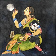 Krishna for Today Krishna Leela, Bal Krishna, Krishna Love, Krishna Art, Krishna Images, Lord Krishna, Radhe Krishna, Tanjore Painting, Krishna Painting