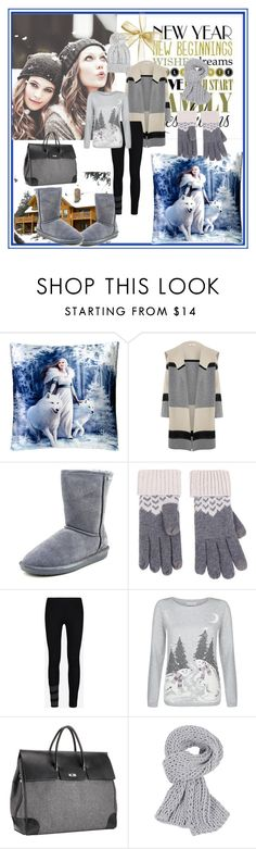 """""""Winter 2016"""" by adorotic ❤ liked on Polyvore featuring Nemesis, Vince, Bearpaw, Y-3, Monsoon and Mark/Giusti"""