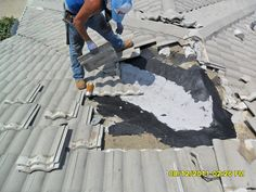 Tile roof repair project in Sarasota by GC Roofing. :)