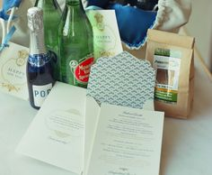 amazing Arkansas goodie bags/welcome kits for this new year's day wedding!