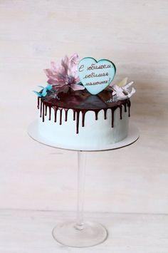 Chocolate Drip Delicate Birthday Cake