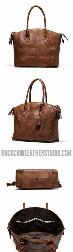 Handmade Full Grain Leather Women Handbag, Designer Handbag, Leather Satchel 9038
