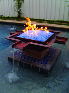 Scottsdale Fire and Water provides custom pool accessories to meet your needs. Or heat up your landscape by adding some custom fire features.