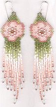 Pastel Flax (flowers) Earrings by Charlotte Holley - Beaded Legends by Chalaedra