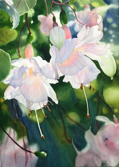Illustration/Painting by Marney Ward Art Aquarelle, Watercolor Artists, Watercolour Painting, Watercolor Flowers, Painting & Drawing, Watercolors, Watercolor Portraits, Watercolor Landscape, Illustration Blume