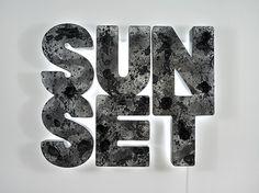 """Doug Aitken """"Sunset"""" (Black)"""