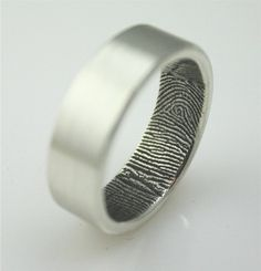 Her fingerprint inside your wedding ring.