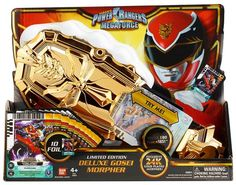 SDCC 2013 Bandai Exclusive Limited Edition Gold Plated Deluxe Gosei Morpher w/ 10 Foil Cards Power Rangers Morph, Power Rangers Ninja Storm, Power Rangers Toys, Power Rangers Samurai, Power Ranger Cake, Power Ranger Birthday, Power Rangers Dino Supercharge, Ryan Toys, Power Rangers Megaforce