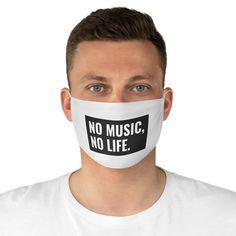 No music No Life Reusable Face Mask Camping Fabric, Programmer Humor, White Face Mask, Club Face, Awkward Funny, Mask Making, Medical Laboratory, Real Man, Quick Dry