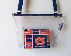 Auburn Tigers Clear Stadium Bag Monogram Set Security PGA Tour Zipper…