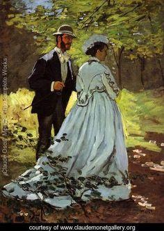 The Strollers - Claude Oscar Monet - www.claudemonetgallery.org