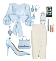 Time for work by Diva of Cake on Polyvore featuring polyvore fashion style Acne Studios Semilla Dolce&Gabbana Allurez Yves Saint Laurent Estée Lauder Cartier clothing