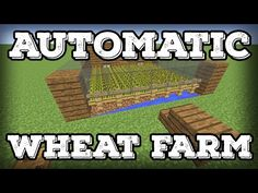 Minecraft Building Tutorial - Automatic Wheat Farm - Automatic Replanting!(Minecraft 1.8+) - YouTube