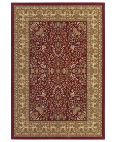 "MANUFACTURER'S CLOSEOUT! Couristan Area Rug Tamena TAM182 Mashad Red 2'7"" x 7'10"" Runner Rug - Runners Rugs - Rugs - Macy's"