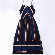 Fashion Stripe Sleeveless Dresses c281b775b72