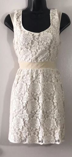f6536c393bc Cream Lace Dress American Eagle Size 0  fashion  clothing  shoes   accessories