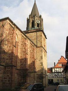 Die Stiftskirche (The Collegiate Church), Rotenburg an der Fulda, Germany, May 2000
