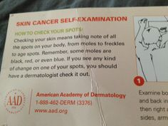 Look out for skin cancer