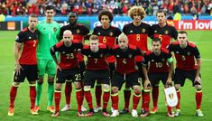 Belgium players line up for the team photos prior to the UEFA EURO 2016 Group E match between Belgium and Italy at Stade des Lumieres on June 2016 in Lyon, France. Belgium Team, World Cup 2018 Teams, Fifa World Cup, Uefa European Championship, European Championships, Panama, Russia World Cup, Uefa Euro 2016, Team Building