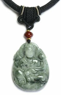 [风水&フォーチュン宝石]ロータス中国のジェダイト翡翠ペンダントネックレス、彫刻翡翠ペンダント50x40x11mm上の観音仏は、ハンドメイドならではのヒスイコード38-60CMに装飾された  / Jade_buddha[正规输入品] 風水&フォーチュン宝石, http://www.amazon.co.jp/dp/B00KBQ8B6S/ref=cm_sw_r_pi_dp_D6sDtb18PMNQ2