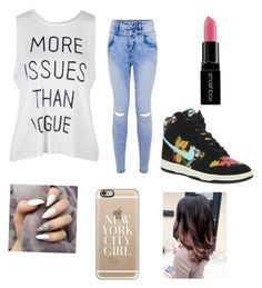 """""""School Outfit"""" by iammcarter on Polyvore featuring NIKE, Smashbox and Casetify"""