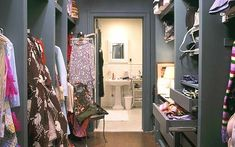 Carrie's infamous closet - aside from the clothes I love the walk through - open concept (no doors!)