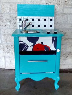 Nightstand Turned Play Kitchen