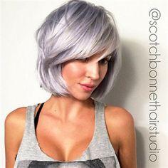 Steely Lavender hair