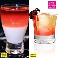 Halloween Cocktails: Candy corn and creepy crawler