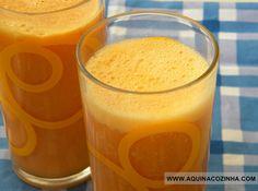 Suco funcional de cenoura com abacaxi