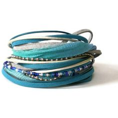 bohemian leather wrap bracelet suede ribbon wrap by jcudesigns, £21.00