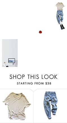 """""""Lie"""" by bellanirys-calcano ❤ liked on Polyvore featuring Alexander Wang, Levi's and Dr. Martens"""