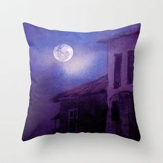 When the moon speaks. Throw Pillow by Viviana González - $20.00
