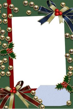 christmas frames  | Christmas Green Transparent Frame