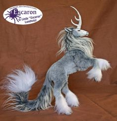 Uniqorn Steed Storm - flexible art doll (SOLD) by Escaron - animais mitologicos - doll - AnimalPins Cute Fantasy Creatures, Mythical Creatures, Beautiful Creatures, Mystical Animals, O Pokemon, Spirited Art, Creature Feature, Animal Sculptures, Ball Jointed Dolls