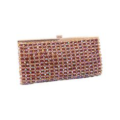 Preowned 1960's Koret Beaded Clutch ($295) ❤ liked on Polyvore featuring bags, handbags, clutches, brown, beaded evening bags, pre owned handbags, beaded evening handbags, evening handbags and beaded handbag