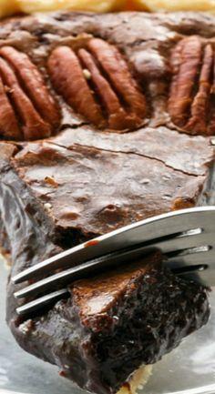 Chocolate Fudge Pecan Pie. Yum!