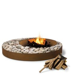 Ak47 design fire pit....could see this with river rock!