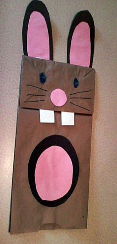 bunny paper bag puppet coloring or template tpt free lessons