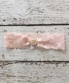 Another great find on #zulily! Baby Pink Lace Vintage Headband #zulilyfinds