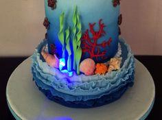 Light up sea shells Under the sea cake
